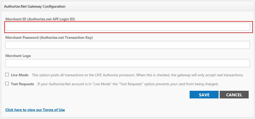 Payment Gateway Setup Merchant ID