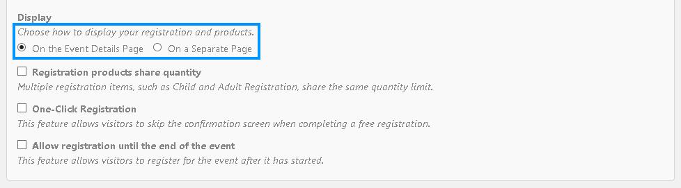 Registration method, details and dedicated form