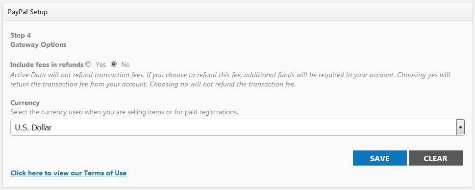 Payment Gateway Configuration - Event Publisher Help